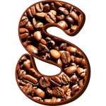 Letter S with coffee filling