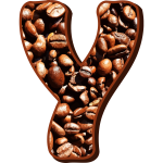 Coffee beans typography Y
