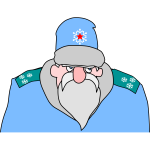 Colonel Frost in blue uniform