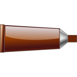 Vector drawing of brown colour tube
