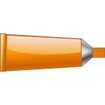 Vector drawing of orange colour tube