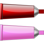 Vector graphics of red and pink colour tubes