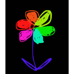 Colored flower 2015060654