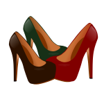 Female high heel shoes vector drawing
