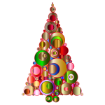Colorful Abstract Circles Christmas Tree 2