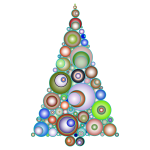 Colorful Abstract Circles Christmas Tree 4