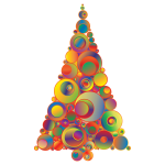 Colorful Abstract Circles Christmas Tree 5