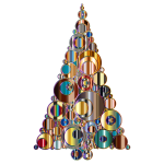 Colorful Abstract Circles Christmas Tree 6 Variation 2