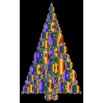 Colorful Abstract Circles Christmas Tree 6 Variation 4