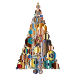 Colorful Abstract Circles Christmas Tree 6
