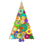 Colorful Abstract Circles Christmas Tree