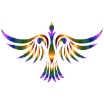 Colorful abstract tribal bird illustration