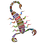Colorful Abstract Tribal Scorpion 2