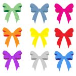 Colorful bows collection