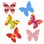 Colorful butterfly patterns