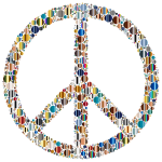 Colorful Circles Peace Sign 16
