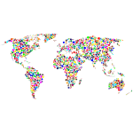 Colorful Circles World Map