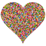 Colorful Confetti Heart 2