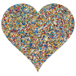 Colorful Confetti Heart 5 Variation 2