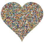 Colorful Confetti Heart 5