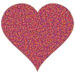 Colorful Confetti Heart 9