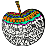 Decorated apple