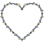 Colorful Fancy Decorative Line Art Heart 3