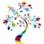 Colorful Floral Tree 3