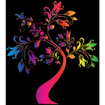 Colorful Floral Tree 8