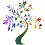 Colorful Floral Tree