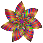 Colorful Flower Line Art 3