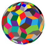 Colorful geometric sphere