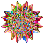 Colorful Geometric Star 6