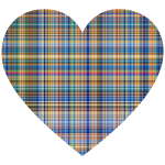 Colorful Gingham Heart