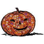 Colorful Halloween pumpkin
