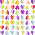 Colorful Hearts Pattern Wallpaper