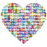 Colorful Puzzle Heart 4