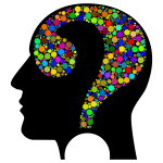 Colorful Question Head Circles 2