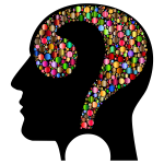 Colorful Question Head Circles 7