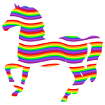 Colorful Rainbow Horse