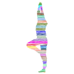 Colorful scribbled yoga pose