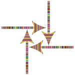 Colorful Striped Arrows