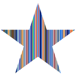 Colorful Striped Star