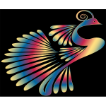 Colorful Stylized Peacock 13