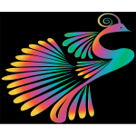 Colorful Stylized Peacock 15