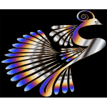 Colorful Stylized Peacock 8