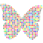 Colorful Triangles Butterfly