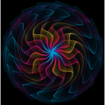 Colorful Wavy Vortex Line Art 10