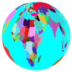 Colorful World Globe