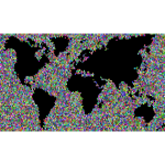 Colorful World Map Mosaic